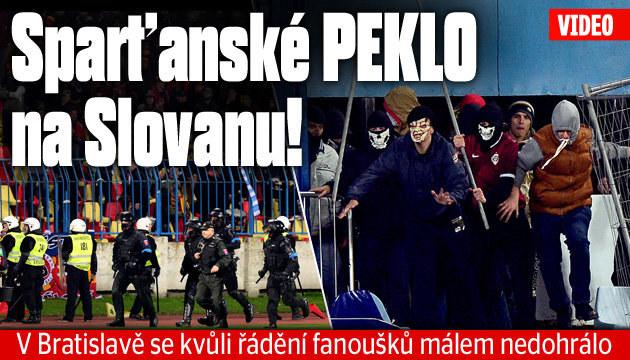 Zápas se dohrál, Sparta vyhrála na Slovanu 3:0