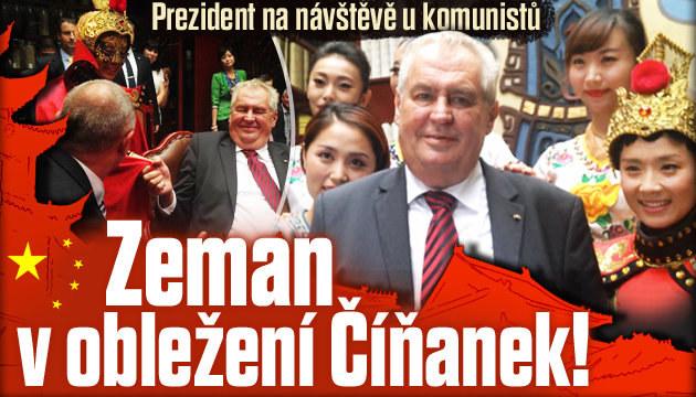 Prezident Miloš Zeman v obležení Číňanek!