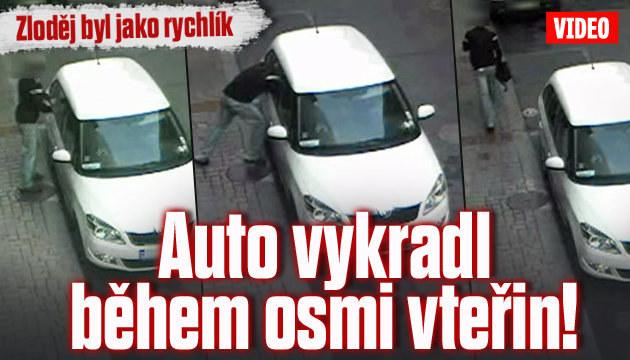 Zloděj vykradl auto během osmi vteřin!