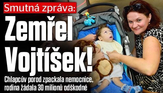 Smutná zpráva: Zemřel  postižený Vojtíšek!