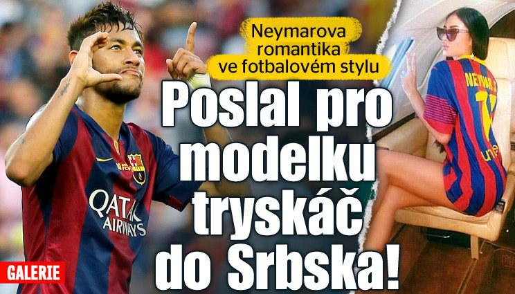 Neymar ví, jak připravit dokonalou romantiku