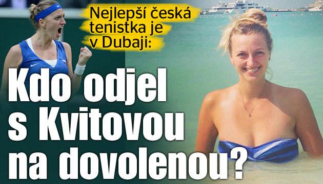 Kvitová dovádí na dovolené v Dubaji