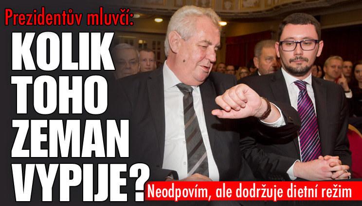 Zemanův mluvčí o prezidentovi a alkoholu