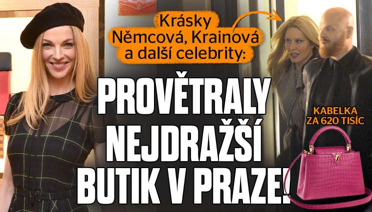 Slavné milovnice kabelek v nejdražším butiku v Praze