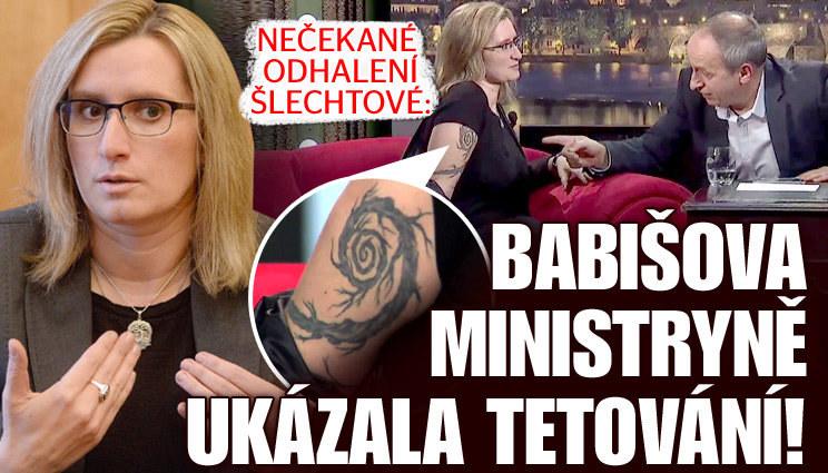 Babišova ministryně odhalila tetování!