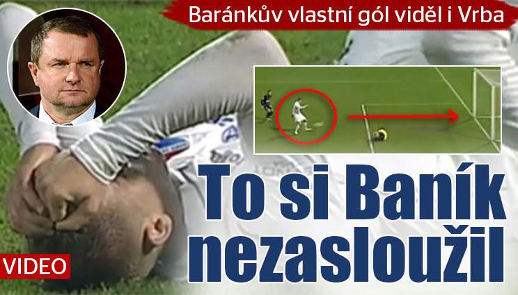 Baník litoval po vlastním gólu i Vrba