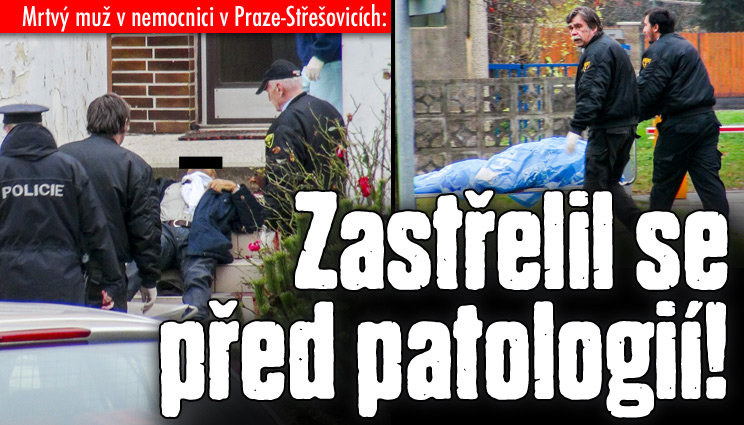 Přišel se zabít před patologii v Praze!