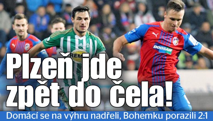 Plzeň se na výhru nadřela, ale opět vede první ligu