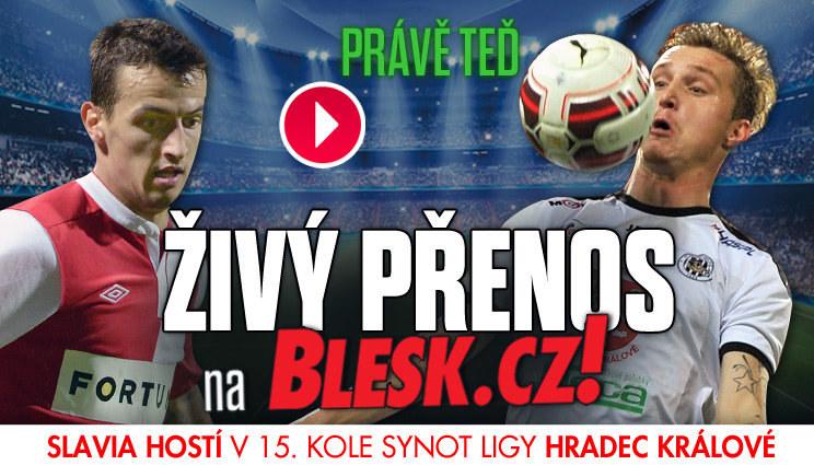 Sledujte přímý přenos, Slavia hostí Hradec Králové