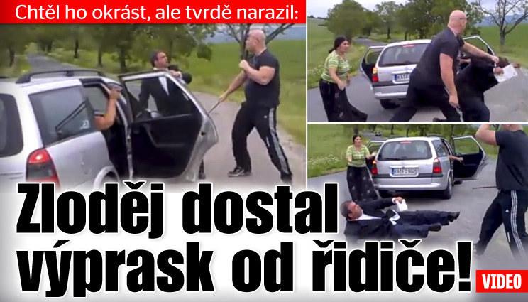 Zloděj dostal výprask od řidiče