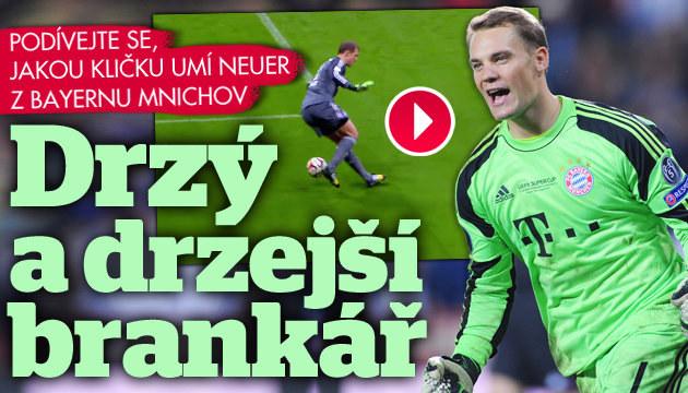 VIDEO: Podívejte se, co umí brankář Bayernu