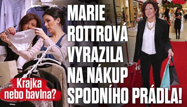 Marie Rottrová vyrazila na nákup spodního prádla!
