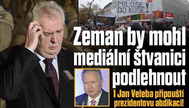 I Veleba připouští prezidentovu abdikaci!