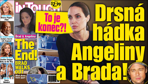 Drsná hádka Angeliny a Brada