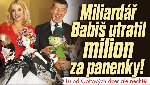 Miliardář Babiš utratil milion za panenky