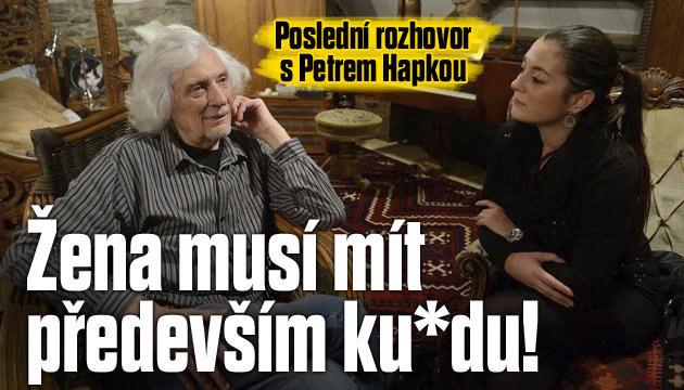 Poslední rozhovor s Petrem Hapkou (†70)