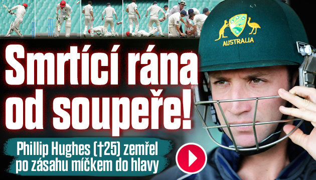 Hráč kriketu zemřel po zásahu míčkem do hlavy