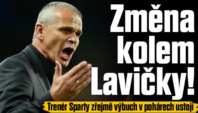 Trenér Sparty Lavička by mohl u týmu pokračovat
