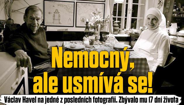 Václav Havel na jedné z posledních fotografií