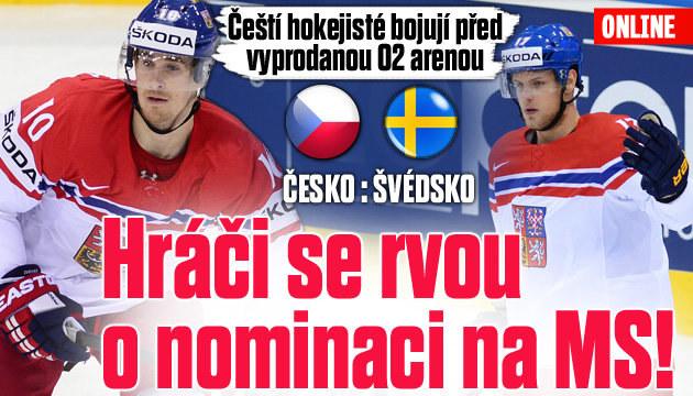 Češi bojují se Švédskem o nominaci na MS