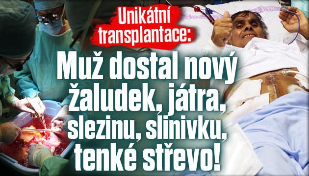 Unikátní operace: Muž dostal 5 nových orgánů