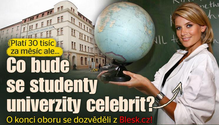 Problémy studentů vysoké školy celebrit