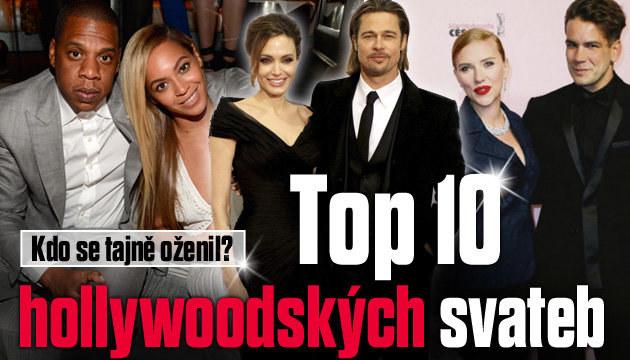 Top 10 hollywoodských svateb