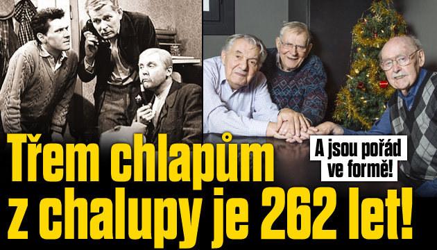 Třem chlapům z chalupy je dohromady 262 let!