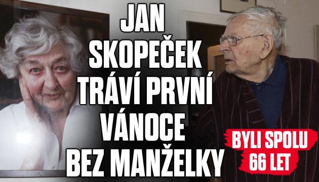 Jan Skopeček tráví první Vánoce bez manželky