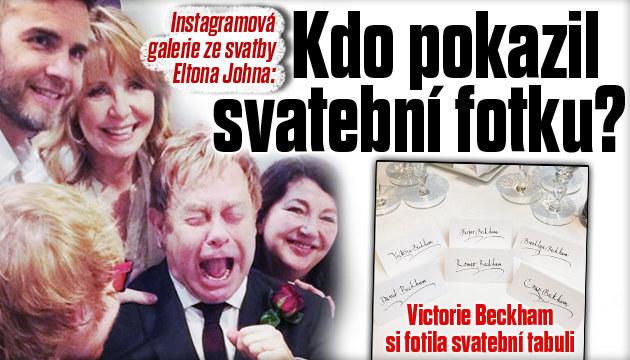 Svatební fotogalerie Eltona Johna