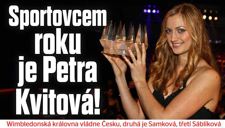 Tenistka Kvitová je Sportovcem roku 2014
