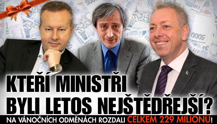 Ministři si hráli na Ježíška: Vysoké odměny!