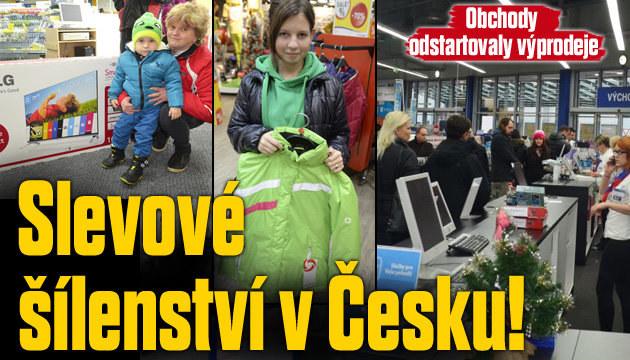 Slevové šílenství v Česku! Začaly výprodeje