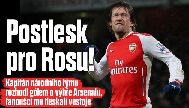 Rosický se stal hrdinou fanoušků Arsenalu