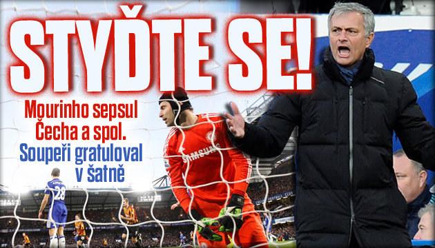 Chelsea prohrála s Bradfordem 2:4, Mourinho se vztekal
