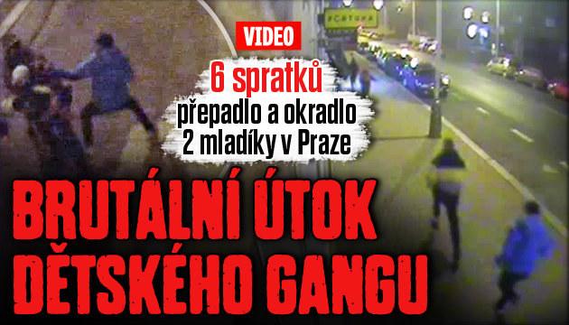 Brutální útok dětského gangu v Praze