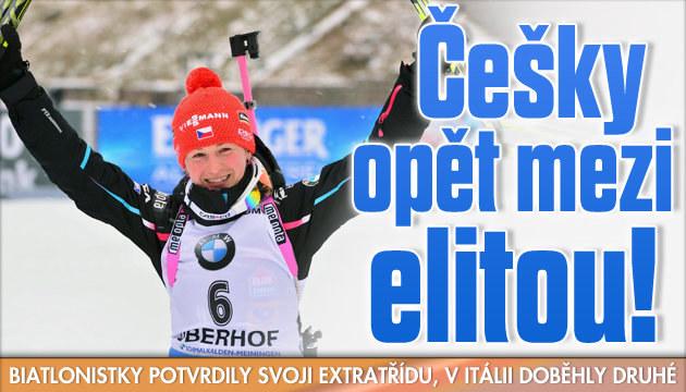 České biatlonistky potvrdily svoji extratřídu