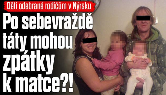 Otci odebrali děti, spáchal sebevraždu!