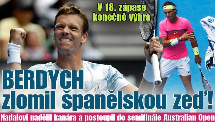 Berdych nadělil Nadalovi kanára, je v semifinále