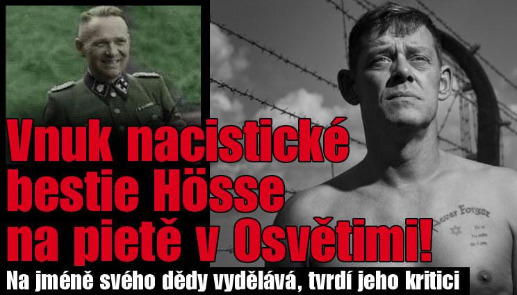 Vnuk nacistické bestie Hösse na pietě v Osvětimi