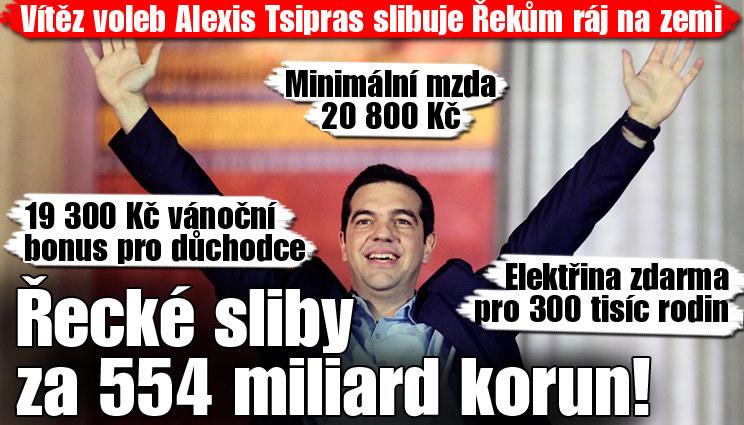 Řecké volební sliby nás vyjdou na 554 miliard