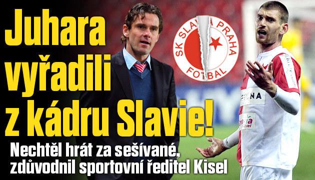 Překvapení! Slavia vyřadila z kádru Juhara