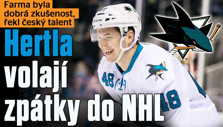Hertl se vrací z farmy do NHL