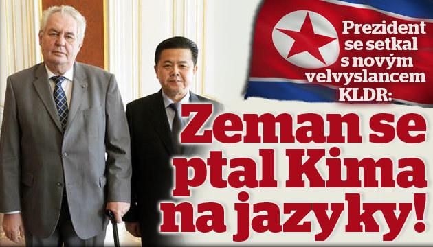 Zeman přijal Kima, strýčka vůdce KLDR
