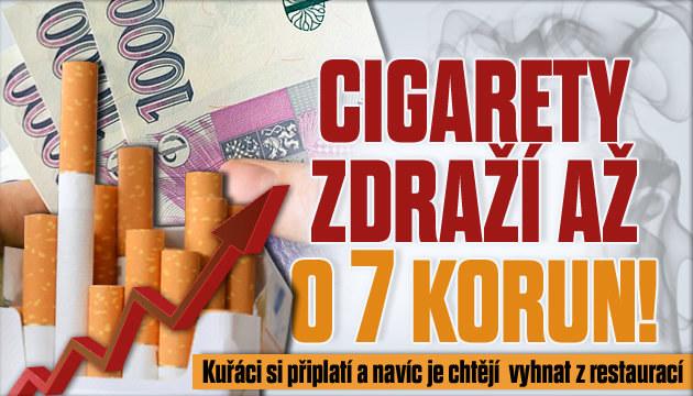 Krabička cigaret opět podraží. Až o 7 Kč!