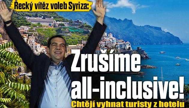 Řecký vítěz voleb: Zrušíme all-inclusive!