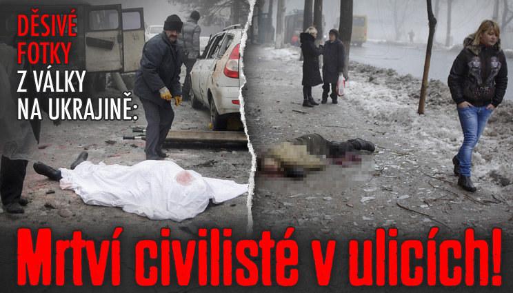 Mrtvoly v ulicích Doněcka: Další oběti války!