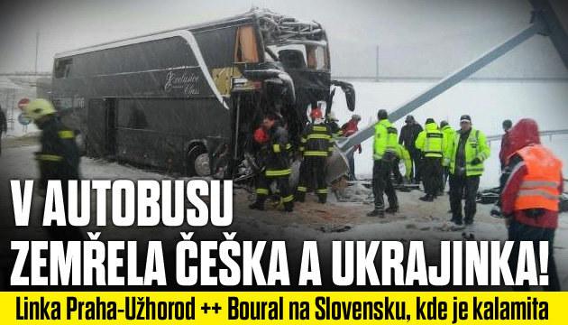 Autobus z Prahy boural na Slovensku!
