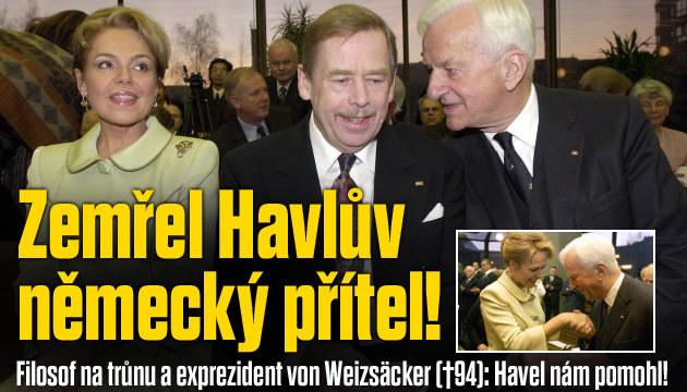 Zemřel Havlův starý přítel z Německa