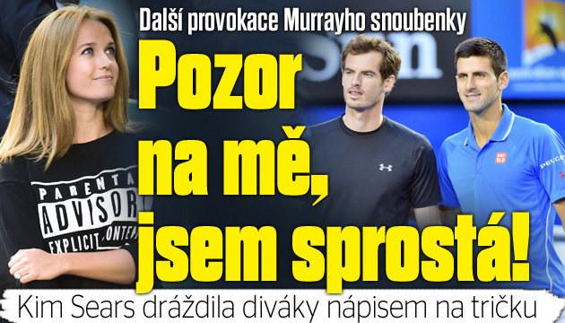 Snoubenka Murrayho opět provokovala